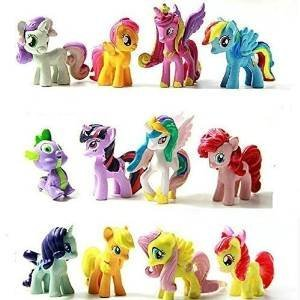 Top Valu Fast Ship 12 Piece Set My Little Pony Cake Toppers Cupcake Toys PVC Figurines Decoration Life Ornaments Gift Birthday Function Party (Little Cupcake Kitchen compare prices)