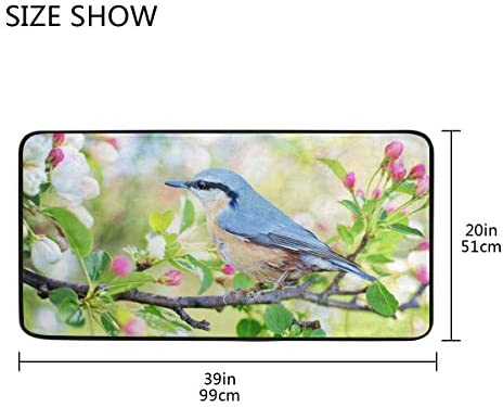 Floral /& Birds Water Absorption Non-slip Rug