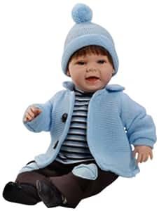Berjuan Baby Sweet, muñeco castaño con chaqueta azul (1203)