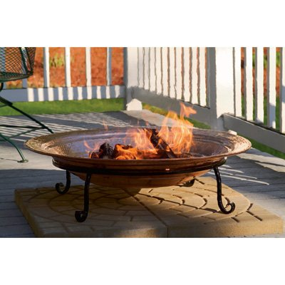 Good Directions 771 Medium Copper Fire Pit - Hand hammered copper Deep copper basin cradle wood or coal for a capitvating blaze Bring warmth and comfort to backyard, beach or patio - patio, outdoor-decor, fire-pits-outdoor-fireplaces - 413qTBwI06L. SS400  -