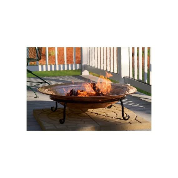 Good Directions 771 Medium Copper Fire Pit - Hand hammered copper Deep copper basin cradle wood or coal for a capitvating blaze Bring warmth and comfort to backyard, beach or patio - patio, outdoor-decor, fire-pits-outdoor-fireplaces - 413qTBwI06L. SS570  -