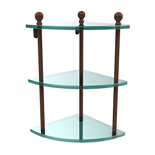 Allied Brass MA-6-ABZ Triple Corner Glass Shelf Antique Bronze by Allied Brass