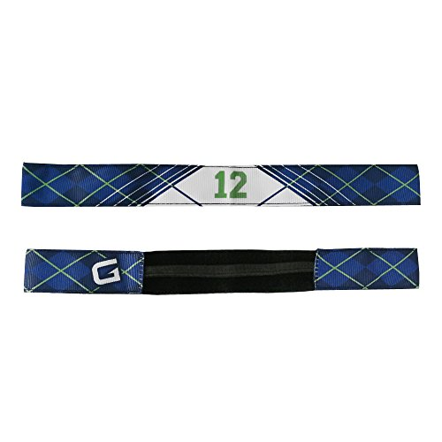 G206 Wear Seattle Slim 12th Man Argyle Blue Athletic Headbands