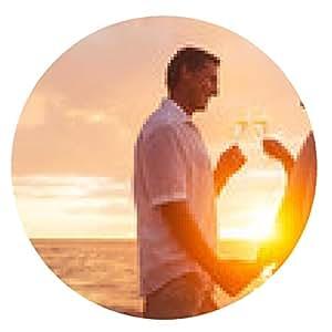 alfombrilla de ratón Pares que disfrutan de una copa de Champene en la playa en la puesta del sol - ronda - 20cm