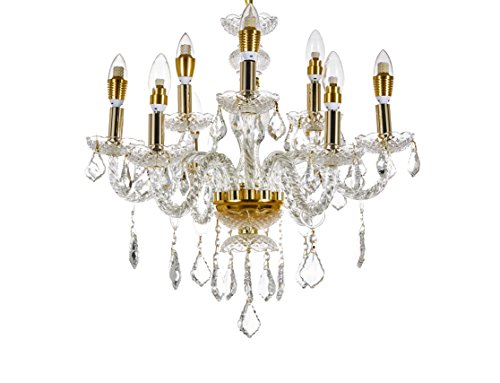 Broadway Gold Classic Crystal Chandeliers Modern Lamps Pendant Light BL-GJH/D-L6+3 W23 X H24 -