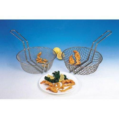 (American Metalcraft CBF9 Culinary Basket, Fine Mesh, Tinned Steel, 9