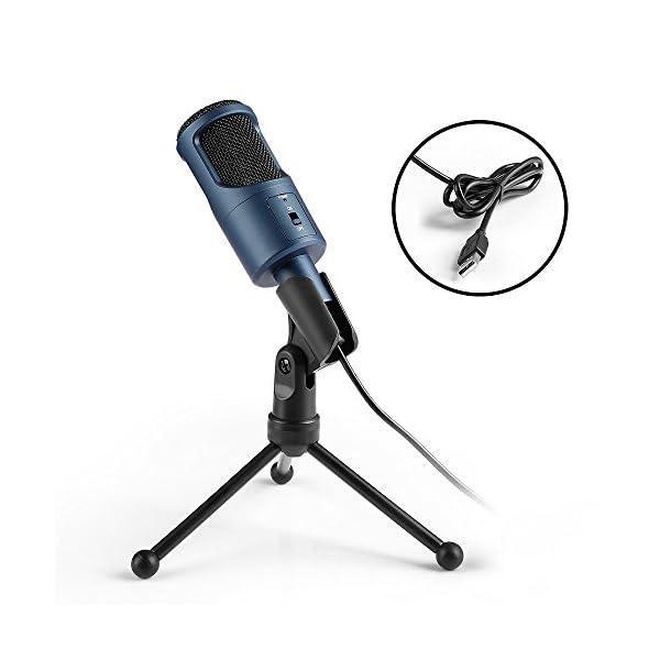Microfono Usb, MAD GIGA Microfono a Condensatore Con Supporto Pieghevole, Microfono a Condensatore USB Omnidirezionale… 1 spesavip