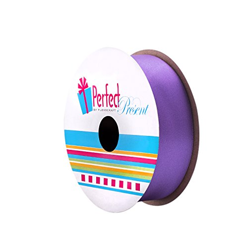 (Incredible Packaging - Double Face Stain Solid Ribbon - 10 Colors - 1 in Wide, 16 FT Long. (Purple, 5.33 Yards))
