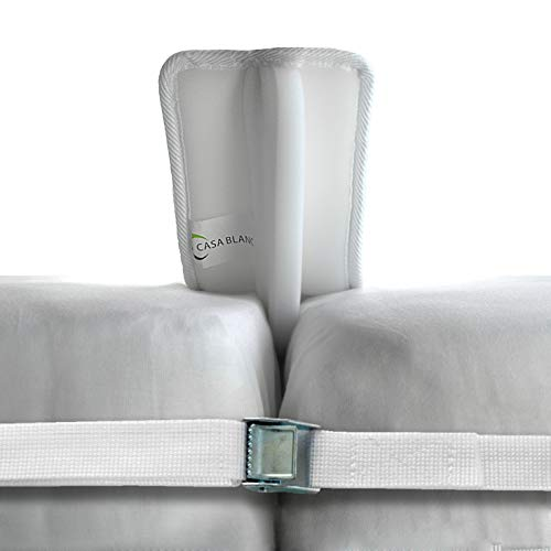 e Twin to King Mattress Converter Kit - Memory Foam Gap Filler for Two Twins Beds with Mattress Strap Included– for Guest & Family Visits ()