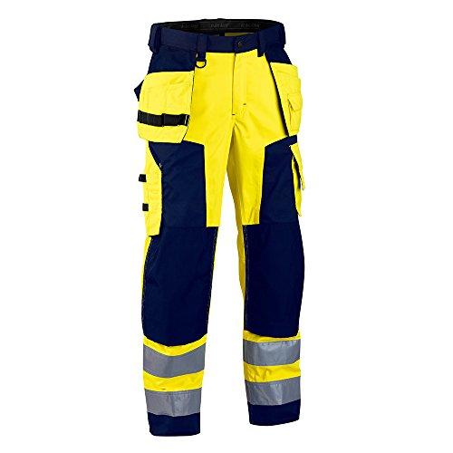 Blakläder 156725173389D108 Softshell Pantalon hiver classe 2 Taille D108 Jaune/Marine Bleu
