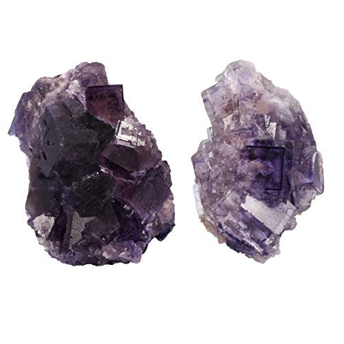 SUNYIK Natural Purple Fluorite Crystal Quartz Specimen Gemstone Sculpture Sphere Mineral 1