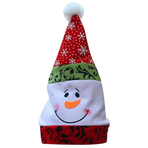 Mini Top Hat With Mistletoe (Leoy88 Unisex Adult Xmas Red Cap Santa Novelty Hat for Christmas Party (B))