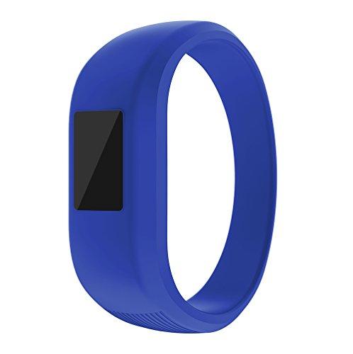 ZSZCXD Garmin Vivofit Jr/Vivofit Jr.2 Bands, Soft Silicon Wristband Strap Replacement Bands for Garmin Vivofit Jr/Vivofit Jr.2, Small and Large?for Kids? (Blue, Small: 5.7)