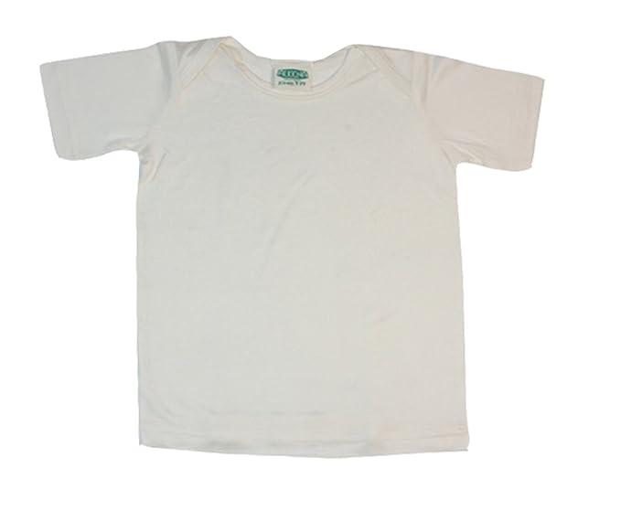 alkena Baby avispas Camisa de manga corta bio de seda Naturweiss