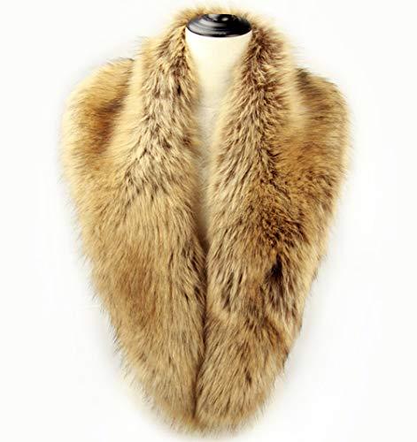 (Dikoaina Extra Large Women's Faux Fur Collar for Winter Coat (100cm, Raccoon))