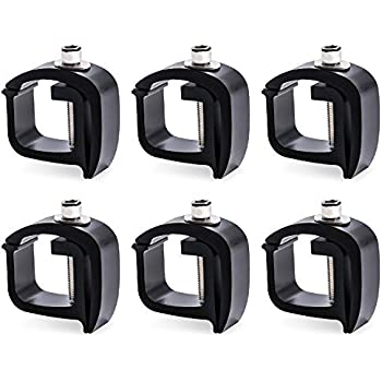 Set of 4 Mounting C-clamps For Non-Drilling Heavy Duty Truck Rack Camper Shell