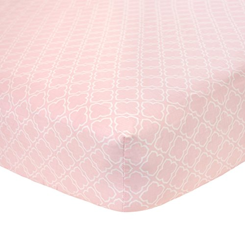 Carter's Cotton Fitted Crib Sheet, Pink Trellis