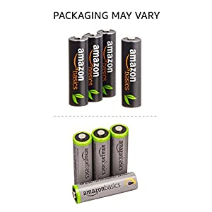 AmazonBasics AA High-Capacity Rechargeable Batteries (8-Pack) Pre-charged – Packaging May Vary