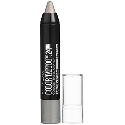 Maybelline New York Eyestudio ColorTattoo Concentrated Crayon,740 Grey Crystal, 0.08 oz. (Color Shadow Gray)