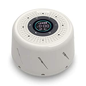 Bestand White Noise Machine Sleep Sound Device for Sleeping with LED Screen Display, Sleep Timer and Automatic Function for Office Privacy/Travel/Lighter Sleeper/Baby/Adult-White