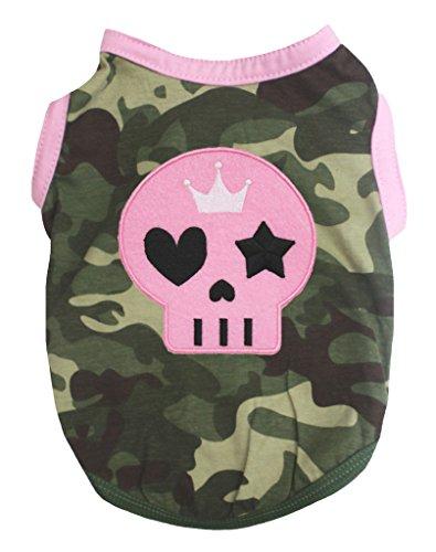 othes Dog Dress Pet Supply Skeleton Camouflage Pink T-Shirt (Medium) (Pink Dog T-shirt)