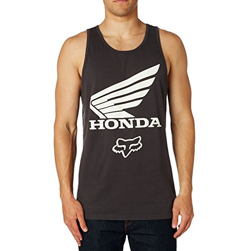 Car Honda Vintage (Fox Racing Men's Fox Honda Premium Tank,Medium,Black Vintage)