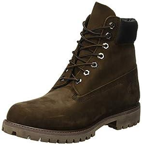 Timerbland Men's 6 inch Premium Waterproof Boot, Dark Brown Nubuck, 11