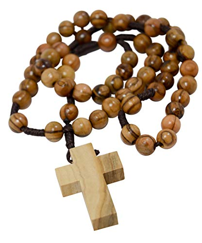 - Most Original Gifts Wooden Our Father Catholic Rosary Beads from Bethlehem Christian Prayer Beads in Cotton Rosary Pouch with Certificate