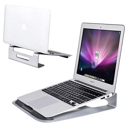 Tangkula Laptop Stand, Aluminum Ventilated Update Version Notebook Riser Stand for 11