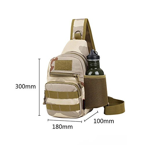 Messenger Outdoor Desert Small black Crossbody Chest Shoulder Sports Travel Bag Camouflage Packs Mens Camping Domybest gF0vw