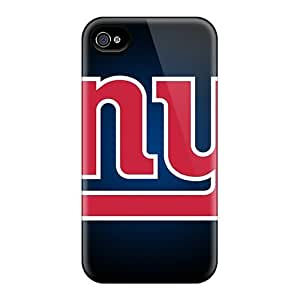 Shock-Absorbing Cell-phone Hard Covers For Iphone 4/4s With Unique Design Colorful New York Giants Pattern Cases-best-covers