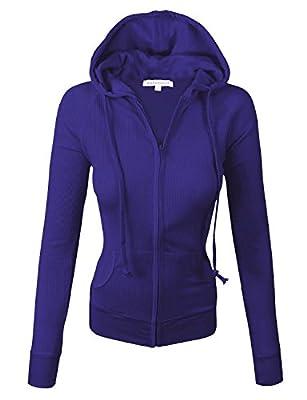 makeitmint Women's Basic Light Weight Zip Up Hoodie Jacket [S-3XL]