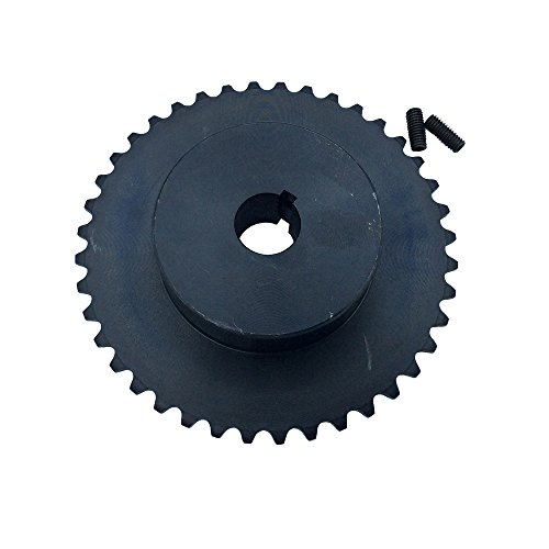(# 35 Roller Chain Sprocket 42 Teeth B Type Pitch 0.375 inch Black for Go Kart Replace)