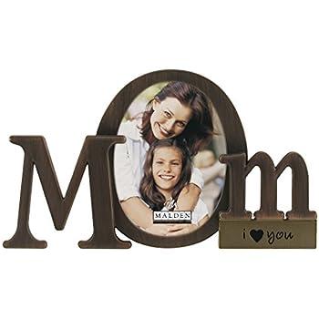 Malden International Designs Bronze Script Mom Picture Frame, 3.5x4.5, Bronze