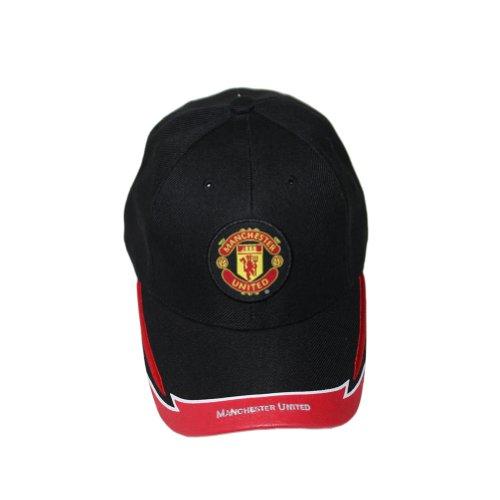 Manchester United Team Logo Graphic Design Soccer Futbol Cap Black (Manchester United Soccer Logo)
