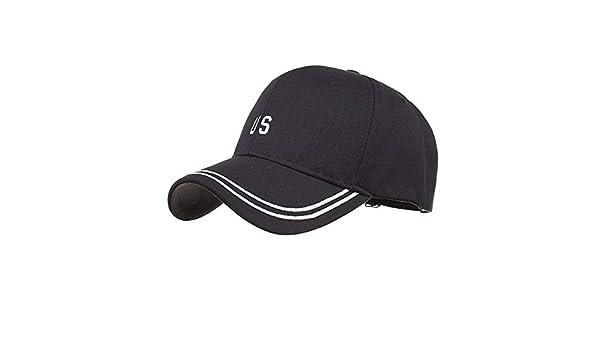 Amazon.com : SPE969 Fashion Men Adjustable Letter Cap Bone Gorras Black Tactical Baseball Hat Shade : Sports & Outdoors