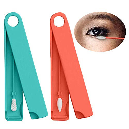 Chicoco Reusable Cotton Swabs Cleanable Safety Silicone Cotton Swab Ears Clean Cotton Pads Innovative Green Beauty Tools Portable Silicone Cotton Swab Sticks Clean Massage Makeup Tools