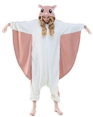 Newcosplay Adult Unisex Bee Owl Bat Fly mouse Onesie Pajama Costume