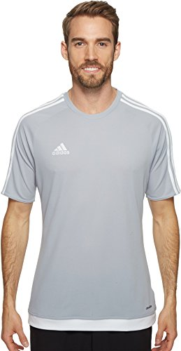 adidas Performance Men's Estro 15 Jersey, Light Grey/White, Large