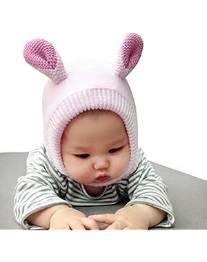 Little Baby Winter Soft Plus Velvet Outdoor Warm Knit Hat