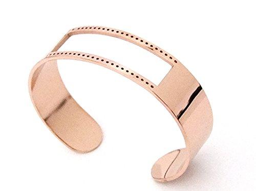 Centerline Rose Gold Plated Adjustable Bracelet Cuff 5/8 Inch Wide