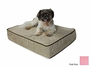 Snoozer Outlast Dog Bed Sleep System 5-Inch Thick, Small, Pink/Pink