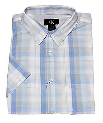 Calvin Klein Men's Short Sleeve Check Shirt