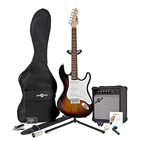 Guitarra Eléctrica LA + Pack Completo - Sunburst: Amazon.es: Instrumentos musicales