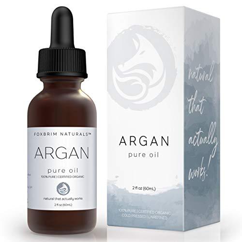 Organic Argan Oil for Hair, Face, Skin & Nails - Extra Virgin - 100% Pure Moroccan Oil - USDA...