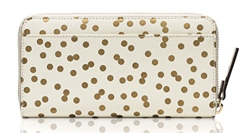 Kate-Spade-Bridal-Cream-Gold-Confetti-Dot-Zip-Around-Lacey-Wallet