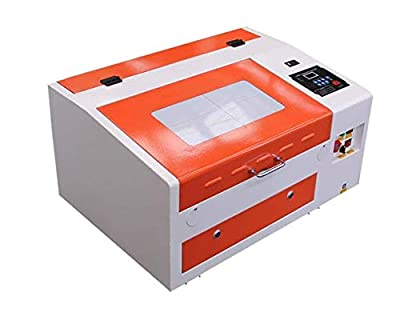 TEN-HIGH CO2 Engraving Machine, 300x400mm Laser Engraving Machine with Exhaust Fan USB Port