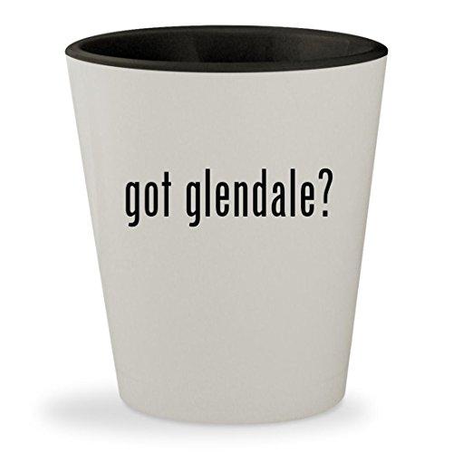 got glendale? - White Outer & Black Inner Ceramic 1.5oz Shot - Galleria Glendale Glendale