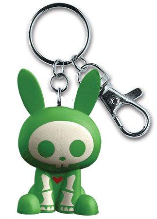Skelanimals: Green Jack the Rabbit Key Chain (Rabbit Keychain Jack)