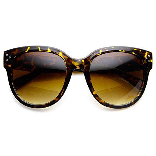 Womens Large Oversized Fashion Horn Rimmed Audrey Sunglasses - Sunglasses Audrey